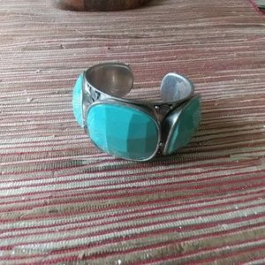 Lucky brand cuff bracelet silver turquoise